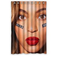 beyonce ring - Personalized Waterproof Beyonce Shower Curtain holes to which rings attach x72