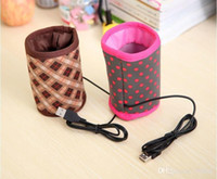 tin drinking cups - Hot Drink Warmer USB Interface Insulation Sleeve Bottle Tin Cup Heating Bag Coffee Milk Warmer Limited Stock Clearance Sell