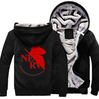 Wholesale New Winter Autumn Men Printed Hoodies Solid Color Moleton Masculino Thick Sweatshirts Sport Male Anime Evangelion Hooded Jackets