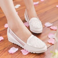 the four seasons - The new spring and summer scoop shoes gauze shallow mouth round diamond increased in four seasons Doug lady shoes cool shoes