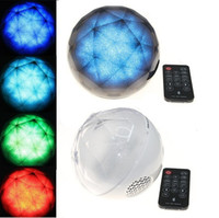 Wholesale Free DHL Mini Magic Color Ball wireless Bluetooth Portable Ball Speaker with remote control home LED Flash Light Best for Christmas Xmas