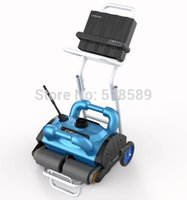 Wholesale 15m Cable Robotic pool cleaner swimming pool robot cleaner swimming pool cleaning equipment with caddy cart and CE ROHS SGS