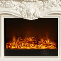 electric fireplace - 1 Miou fireplace flame simulation decorative white wood stoves for heating electric fireplace remote control cabinet XL