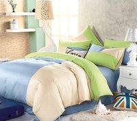 Cheap 100% Cotton Bed Linen Quilt Pillowcases Textile Suit Four Piece Set a Variety Of Multi-color Optional 0090
