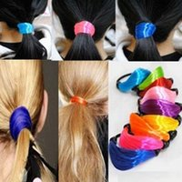 Wholesale Hot selling new horsetail hair bands fashion color wig horsetail hair bands weaving braids of hair circle hair accessories