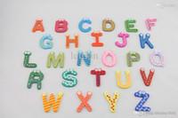 Wholesale Children s Toys Wooden Alphabet Fridge Magnets One Set have Puzzle toys for Kids