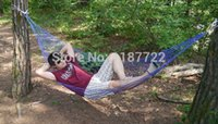 Cheap new 2014 nylon mesh camping hammock hanging chair outdoor swing single hammock outdoor siesta sleeping hammocks free shipping