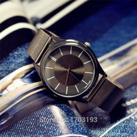 Wholesale New arrived C women men Lovers couples all black Steel Metal Strap dial case classic wrist watch with logo