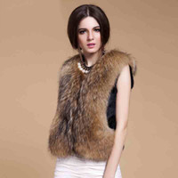 Wholesale Women faux fur vest fausse fourrure gilet fourrure abrigo piel mujer Winter fur waistcoat Female sleeveless jacket pelz pelt