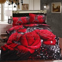 beds discount - 2015 Discount Bedding Sets Beautiful Rose Cotton Bedding Sets Luxury Design New Arrival for Sale AQ02