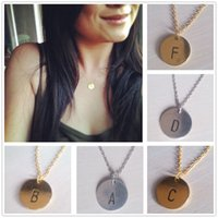 initial charms - Gold Sliver Chain Letter Personalized Charm Pendant Necklace Tiny Initial Delicate Minimalist Necklace Bridesmaid Everyday Gift