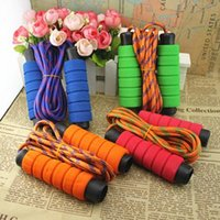 adult jump ropes - Newest Skipping jump ropes foam handle Speed Gym Training Sports excercise fitness sports chlidren adults Fitness Supplies drop shipping