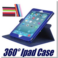 Wholesale Ipad Case For Ipad Mini Air ipad Degree Rotation Lichee Pattern colorful with OPP Package