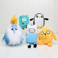 adventure ice - 5styles cm Adventure Time Finn Jake BMO Ice King Penguin Plush toys Soft Stuffed Anime Dolls