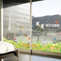 baseboard designs - wall stickers home decor Three generations of removable wall stickers AY7164 fantasy flowers butterflies baseboard removable stickers living