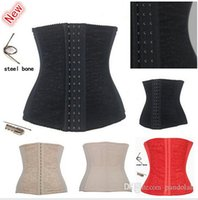 Cheap Sexy Upgrade Shapewear Women Full Steel Boned Waist Training Corset Underbust Bustier Free Shipping 3 Colors Size XS--6XL