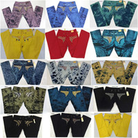 robin jeans - Cheap Robin Jeans Men With Wings Flag JEANS Straight Denim Cowboy Crystals Famous Brand Slim Designer Robin Mens Jeans Pants Plus Size