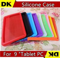 Cheap SGpost Multi-Color TPU Rubber Protective Durable Back Silicone Cases Cover For Universal 9 Inch A13 Android Tablet PC Freeshipping