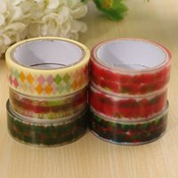 Wholesale High Quality Cartoon Color Adhesive Tape Decorative Sticky Paper Masking Tape Self Scrapbook Tape