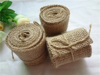 Wholesale 6cm Wide Natural Jute Roll Burlap Ribbon For Wedding Party Decoration Supply