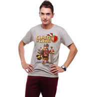 action shirt - Coc Clash of Clans Barbarian King Action Figure T Shirt Raglan Breton Top Striped t shirt boy shirts boy tops and tees DC810