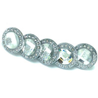 Wholesale 50Pieces White Silvery Diamond Sparkle Clear Crystal Glass Drawer Cabinet Door Handle Knobs Wholesales
