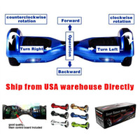 Wholesale Dropship6 inch Two wheel Scooter Unicycle mah self balance electric Scooters Balancing Motor Skateboard Delivered within days by UPS