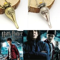 Wholesale Harry Potter Felix Felicis Potion Bottle Necklace Pendant Movie Statement Necklaces Joyas Jewelry Collier Bijoux Femme Collane