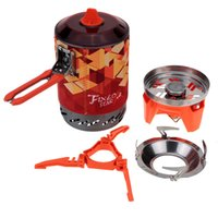 bbq set case - Firemaple Outdoor Barbecue BBQ Picnic Camping Pot Stove Set with a Mesh Bag Portable Gas Burner Mini Stainless Steel Stove Case