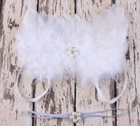 feather butterflies - newborn photography props baby elastic pearl headbands rhinestone puffy angel wings costume infant white fairy feather butterfly wing suit