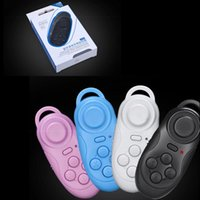 Wholesale 2 In Bluetooth Gamepad Selfie Shutter Remote Controller With Retail Box For Cell Phone PC Gamepad Compatible With IOS Android PC