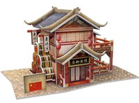 Wholesale 3D Puzzles World Style Series Architecture Hot Chinese Classical Architecture Puzzles Best Gift For Kids styles