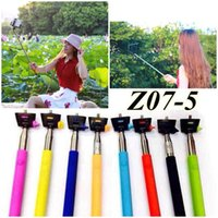 Cheap Free DHL Rechargerable Z07-5 selfie Monopod Extendable Handheld Bluetooth t Wireless Selfie Stick monopod phone holder with shutter remote