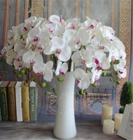 Wholesale Fake Phalaenopsis cm quot Length Artificial Leopard Grain Moth Orchid for Wedding Flower Home Christmas Party Decorations