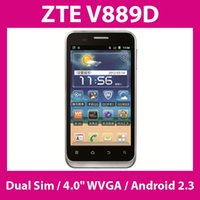 Wholesale ZTE V889D Smartphone Dual SIM G WCDMA quot WVGA Android GHz CPU