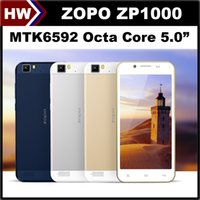 Cheap Octa Core MTK6592 Original ZOPO ZP1000 5.0 inch Cell Phone Android 4.2 1.7GHz 16GB ROM 14.0MP Camera Dual SIM 3G Smart Mobile Phone Cheap