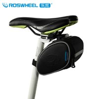 Wholesale ROSWHEEL Bicycle Bag L Black Cube Mountain Road Bike Saddle Bag Tail Bag Rear Seat Seatpost Cycling Bag Bycicle Accessories