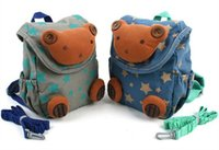 Wholesale New High Quality Baby Toddler Safety Harness Reins Backpack Buddy Walker Strap Cartoon Bag Hot Sale Blue Gray