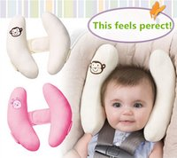 Wholesale Infant Cradler Baby Toddler Head Support Child kid Travel Neck Pillow Ivory Color car seat pillow