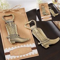 hitch - 100pcs Retro Just Hitched Cowboy Boot Bottle Opener Bridal Shower Wedding Party Favor ww069