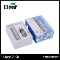 Énorme stock! Išmoka origine Eleaf Ijust 2 sous ohms Kit 2600mAh E cigarette Ijust 2 Kit de démarrage avec 5,5 ml Capacité du réservoir