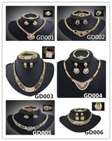 Ear Muff indian jewelry - 2015 Top quanlity A A A K gold plated jewelty set Necklace bracelet ring eatting one set wedding jewerly hot sale woman jewelry