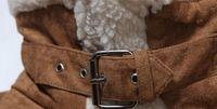 Wholesale Fall Shearling Winter Coat Faux Suede Short Motorcycle Leather Jacket Mens Sheepskin Coat