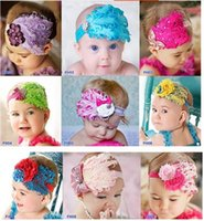 Wholesale Fashion Infant Feather Flower Headband Exquisite Baby Headwear hair Accessory Photography Prop A1009