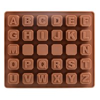Wholesale 26 English Letters D Cute Different Dinosaur type silicone cake Chocolate Mold Jelly Mold Cake Moulds Bakeware DIY
