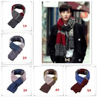 Wholesale 2015 Fashion Accessories Men Scarf Winter Outdoor Knitting Scarf warm wool Long scarf gift scarf LA12