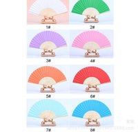 paper fans - Wedding Ladys Silk Dance Fan grace Hand Fan China Paper Fan Folding Fan