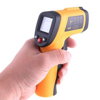 Wholesale Digital Infrared Non Contact Laser IR Thermometer Weather Station to degree dropshipping