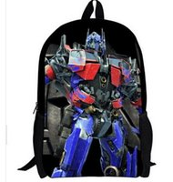 Wholesale 2014 New fashion cartoon backpack travel backpack Transformers children s backpack Girl Kids Bags For Students BP42
