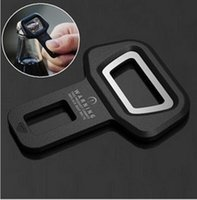 Wholesale 1pc Car safety belt clip Brand New and High quality Car Seat belt buckle Vehicle mounted Bottle Opener Dual use